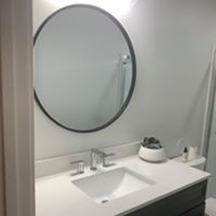 Bathroom Vanity and Mirror Remodel