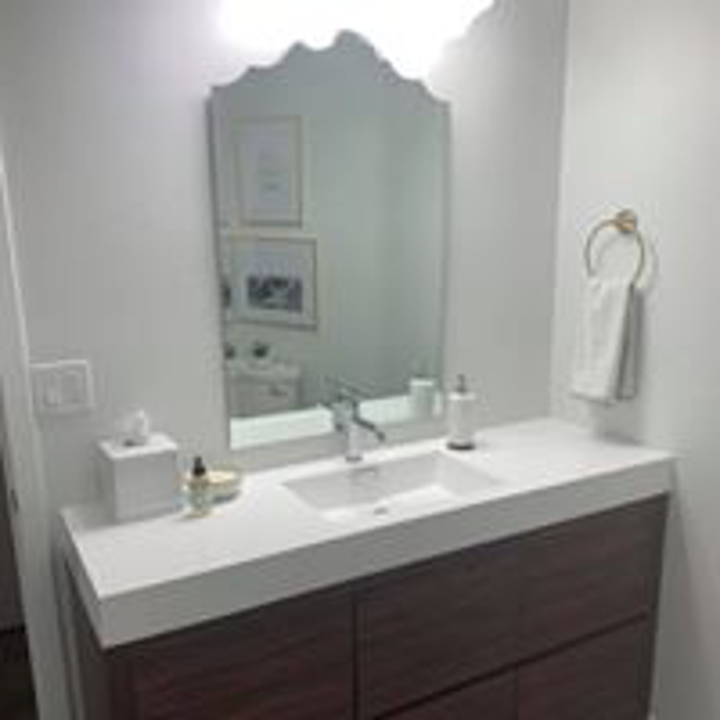 Bathroom Vanity and Mirror Install