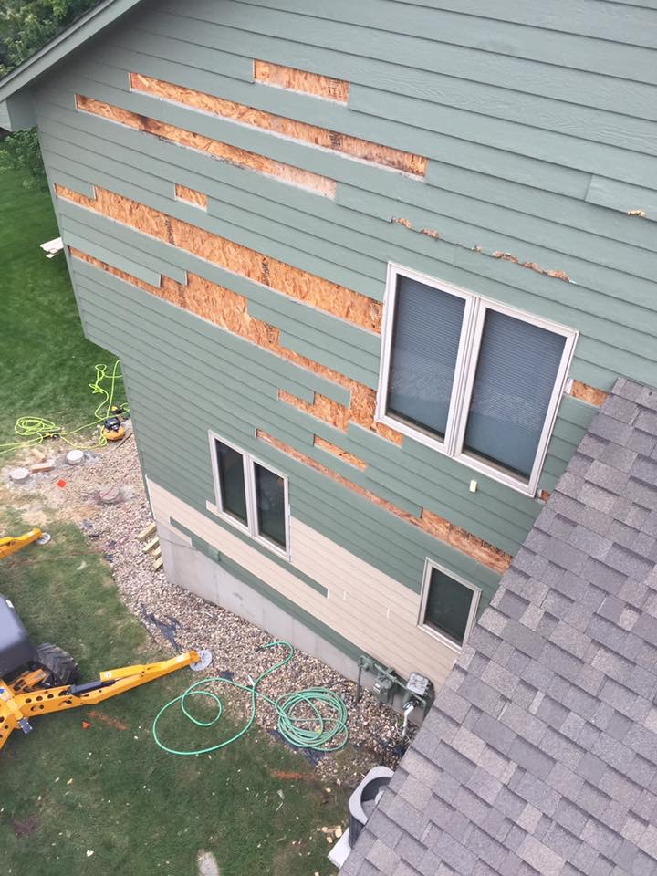 Siding Repair - Before